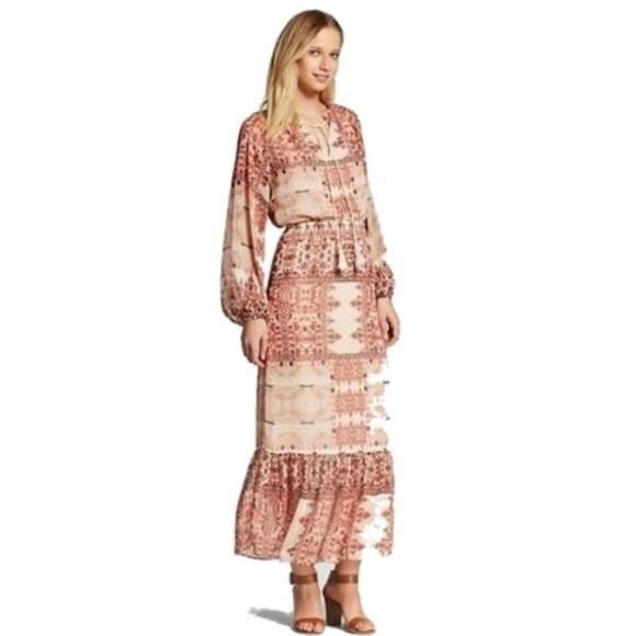 2b54d36a59b Mossimo Supply Co. Dresses | Mossimo Boho Pink Maxi Dress | Poshmark